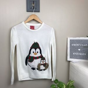 Atmosphere Ugly Christmas Sweater Penguins